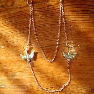 Jewelry - Bird necklace - rose gold